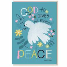 God Gives Peace Greetings Card