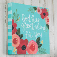 God Has Great Plans For You Canvas