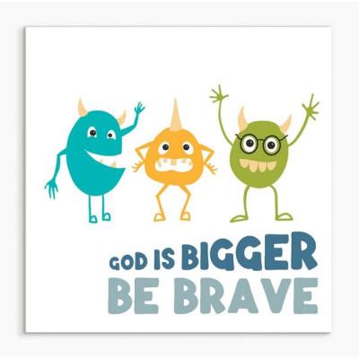 God Is Bigger Than Monsters Framed Print