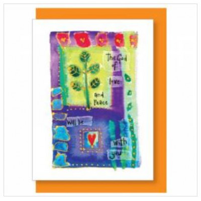 God Of Love And Peace Greetings Card