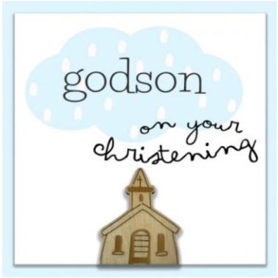 God Son Christening Card