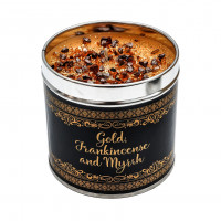 Gold, Frankincense and Myrrh Large Tinned Candle