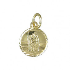 Gold Saint Christopher Necklace
