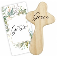 Grow In Grace Holding Cross And Card