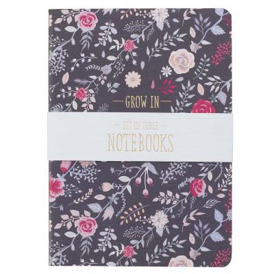 Grace, Love, Faith Set Of Three Large Notebooks