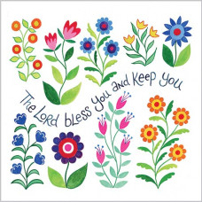 Hannah Dunnett Square Notecards - Bless You & Shine On You