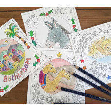 Hannah Dunnett Christmas Colouring Cards