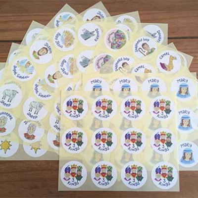 Hannah Dunnett Christmas Stickers