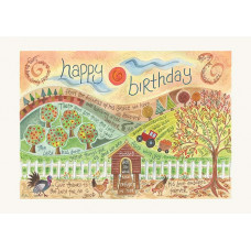Hannah Dunnett Happy Birthday Farm Card