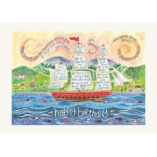 Hannah Dunnett Happy Birthday Ship Card