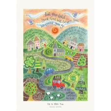 Hannah Dunnett He Is With You A4 Print