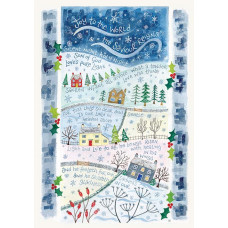 Hannah Dunnett Single Light & Life Christmas Card A5