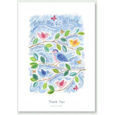 Hannah Dunnett Thank You Birds Card