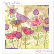 Happy Birthday Poppies Card No Bible Verse