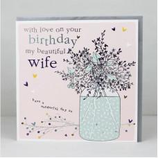 Happy Birthday Beautiful Wife Card