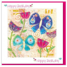 Happy Birthday Card Butterflies With Bible Verse