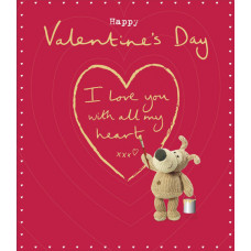 I Love You With All My Heart Boofle Valentine's Day Card