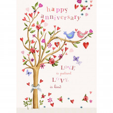 Anniversary Love Birds Card