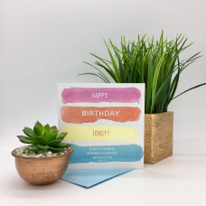 Happy Birthday Lovely Pink Card