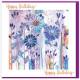 Happy Birthday Purple Flowers - No Bible Verse