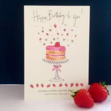 Happy Birthday Strawberry Cake