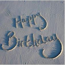 Happy Birthday Card - Sand Plain