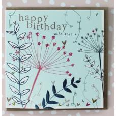 Happy Birthday Seedhead Card