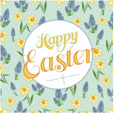 Happy Easter Green Floral Greetings Cards (5)