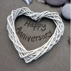 On Your Anniversary Card Sand