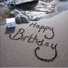 Happy Birthday Card - Sand And Gift