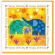 Happy Birthday Elephants Greetings Card