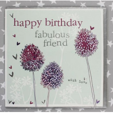 Happy Birthday Alliums Greetings Card