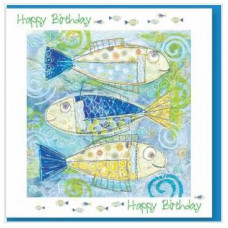 Happy Birthday Fishes Card