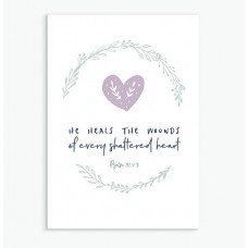 He Heals Calm Range Greetings Card