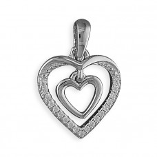 Heart Within A Heart Necklace