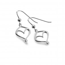 Heart And Twist Hanging Earrings