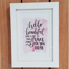 Hello Beautiful Framed Print
