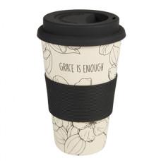 Reusable Bamboo Mug Grace Is Enough