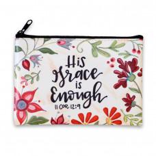 His Grace Is Enough Zipped Purse