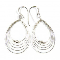 Hoop and Ball Earrings