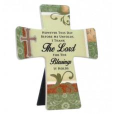 However This Day Unfolds Porcelain Cross
