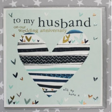 Husband Wedding Anniversary Heart Card