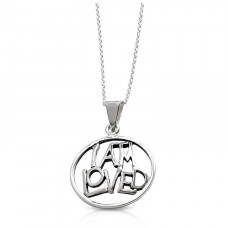 I AM LOVED Sterling Silver Necklace