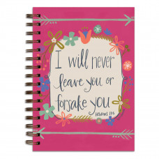 I Will Never Leave You Wirebound Journal