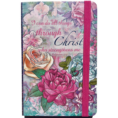 I Can Do All Things Small Elasticated Journal