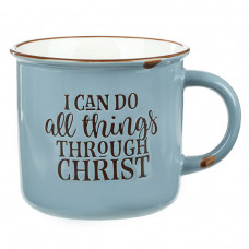 I Can Do All Things Camping Style Mug Teal