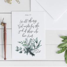 In All Things Romans 8:28 Greetings Card