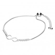 Infinity And Cubic Zirconia Bracelet