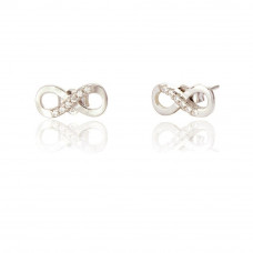 Serene Infinity Knot Stud Earrings