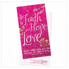 Jotter Pad Faith Hope Love